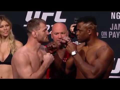 UFC 220: Weigh-in Faceoffs