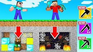 Dig STRAIGHT Down = You LOSE! (Minecraft For Loot)