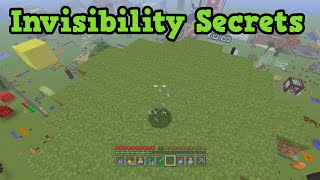 Minecraft Xbox 360 / PS3 5 Invisibility Secrets