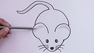 Como dibujar y pintar paso a paso a Ratón - How to draw and paint step by step Raton