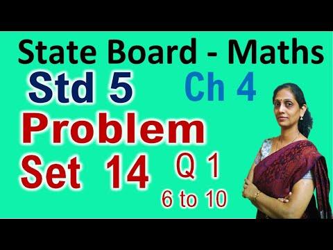 Std 5th Problem Set 14 Ex 1 - 6 To 10 Chapter 4 Maths Class 5 Maharashtra Board PraescioEdu