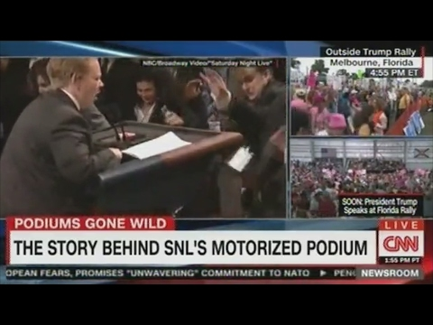 Thumbnail: Melissa McCarthy Sean Spicer Motorized Podium on SNL who made it and how it works