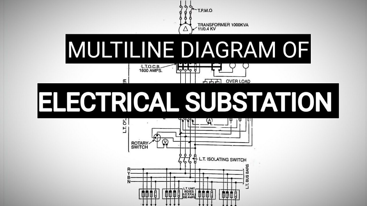 Multi Line Diagram Of Electrical Substation