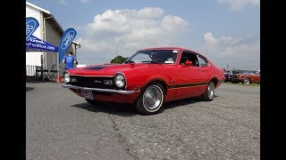1971 Ford Maverick Grabber in Red & Engine Sound on My Car Story with Lou Costabile