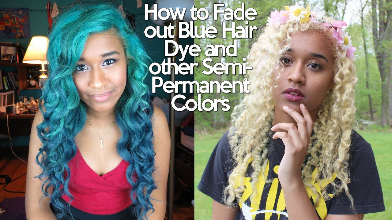 How To Fade Out Blue Hair Dye And Other Semipermanent