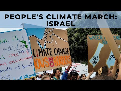 At the People's Climate March Israel