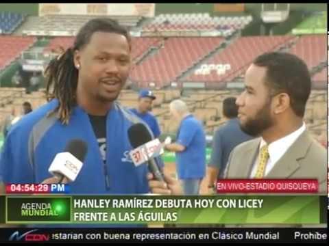 Hanley Ramírez debuta esta noche con Licey frente a Águilas