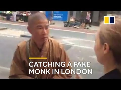 Fake monk: Buddhist crusader catches one on London street