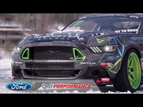 【ビデオ】ヴァン・ギッティンJr.が、新型フォード「マスタング RTR」で氷上ドリフトを披露