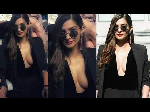 Sonam Kapoor hot Dress at Giorgio Armani | Sonam kapoor Cleavage show | Bollywood Shaukeen thumbnail
