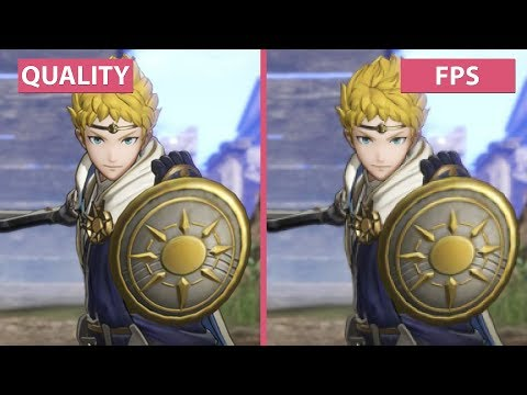 Fire Emblem Warriors – Performance vs. Quality Mode Switch Frame Rate Test Graphics Comparison