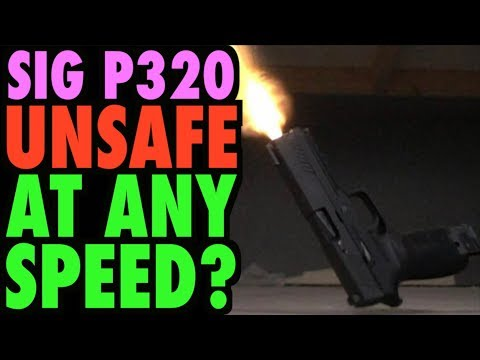 SIG P320: UNSAFE at Any Speed! (Drop Test Fails)