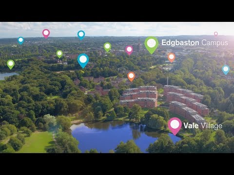 University of Birmingham drone campus tour