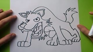 איך לצייר זאב