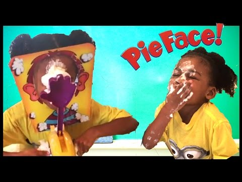 PIE FACE game and GIANT EGG SURPRISE TOYS! Family Fun Game with Naiah Elli