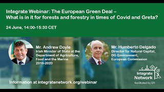 The European Green Deal: What Is In It For Forests And Forestry In Times Of Covid And Greta?
