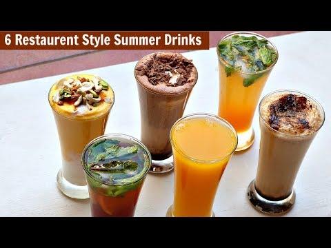 6 Restaurant Style Summer Drinks - Cold Coffee-Iced Tea - Chocolate Shake-Mango Frooti-Mango Mastani