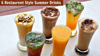 6 Restaurant Style Summer Drinks - Cold Coffee-Iced Tea - Chocolate Shake-Mango Frooti-Mango Mastani