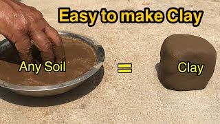 How to extract CLAY from soil | Pottery clay making at home