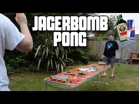 Jägerbomb Pong (Jägermeister & Red Bull Beer Pong) | WheresMyChallenge