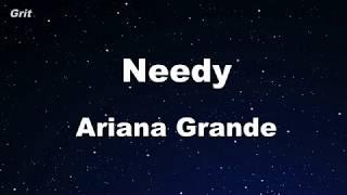 Download needy - Ariana Grande Karaoke 【No Guide Melody】 Instrumental Mp3 and Videos