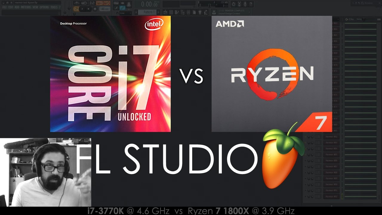FL Studio | Sacco on Core i7 vs Ryzen 7 1800X CPU Performance for Music Production