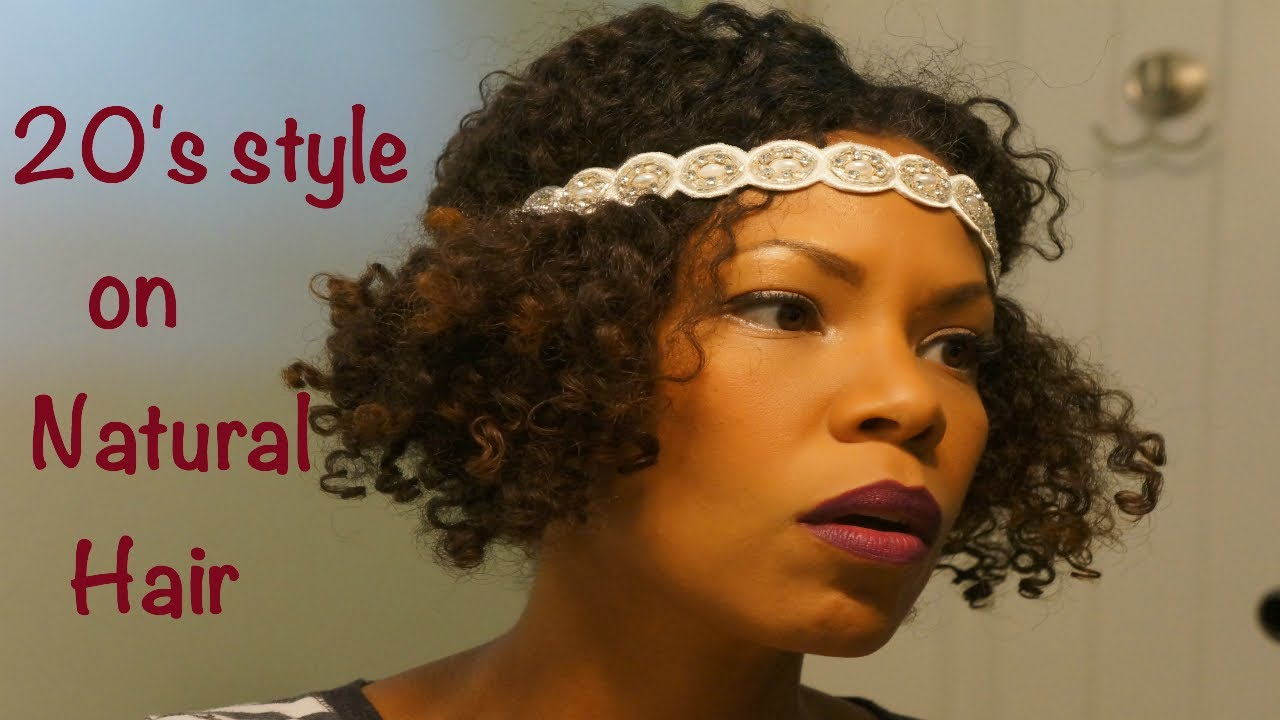 Natural Style On Short Hair The 20 S Flapper Girl Youtube
