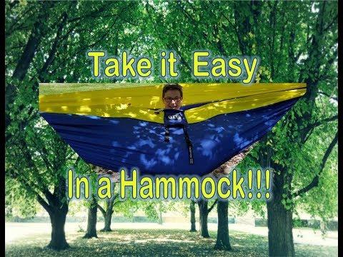 How to Set up a Hammock! Enonation Eno DoubleNest Hammock!