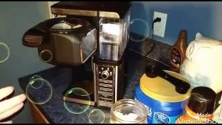 How to make an iced coffee with the ninja bar
