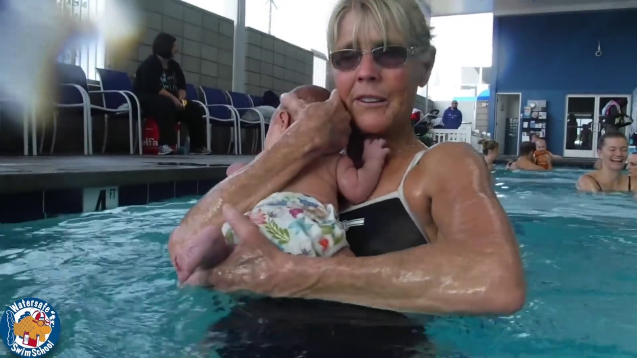 First Swim Experience For A 2 Month Old Infant At Watersafe Swim School Youtube