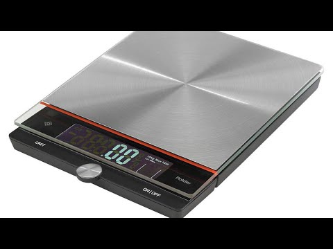 Polder Digital Stainless Steel Kitchen Scale, 22 lb Capacity. From ...