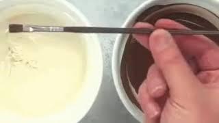 Как необычно подать десерт Сделать съедобные шоколадные вещички.