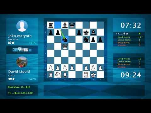 Chess Game Analysis: David Lipold - Joko Maryoto : 1-0 (By ChessFriends.com)