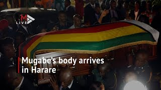 Robert Mugabe's Body Arrives By Plane In Harare