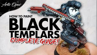 How to Paint BLACK TEMPLARS: Black Power Armour made easy! Warhammer 40k Deathwatch Scheme