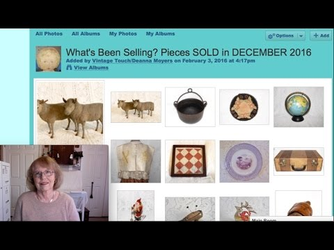 Antique Sales in my Antique Booth & Online Dec 2016