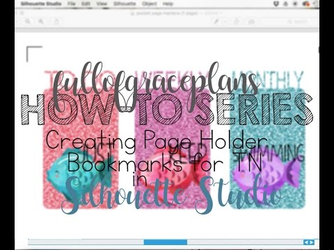 Traveler's Notebook Bookmark Tutorial, Silhouette Studio Tutorial, DIY, No Machine Option also