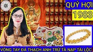 VÒNG TAY ĐÁ PHONG THỦY CHO TUỔI QUÝ HỢI 1983 - ĐẠI HẢI THỦY | Trang Tâm Linh