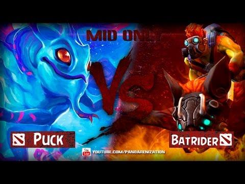 видео: Пак против Бэтрайдера. Дота 2 битва героев мидонли.