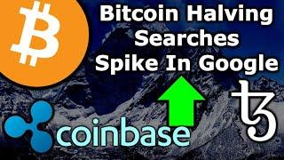 BITCOIN HALVING GOOGLE SEARCHES UP! Ripple & Coinbase Team Up For Crypto Adoption - Tezos Vertalo