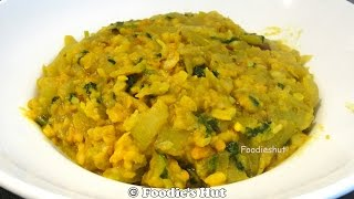 Lau ghanto with moong daal - Bengali recipe