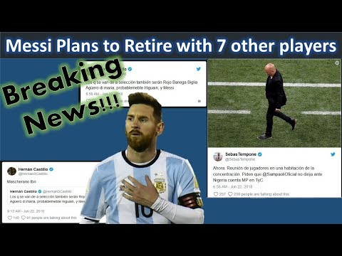 Messi Retiring with 7 other players!!Lionel Messi's retirement news|Argentina team news in world cup
