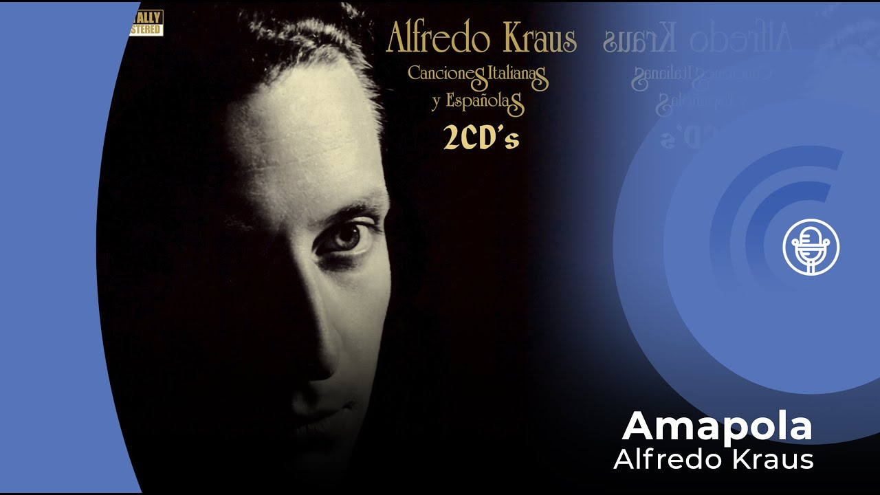 Alfredo Kraus Amapola Con Letra Lyrics Video Youtube