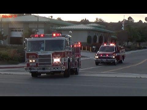 Poway Fire Responding (compilation)