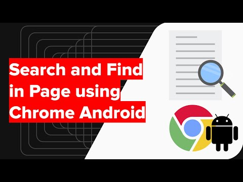 How to Search and Find in Page using Chrome Android?