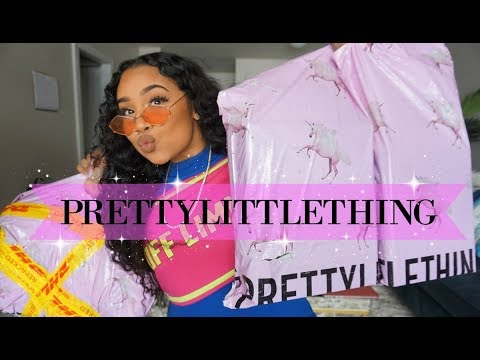 PRETTYLITTLETHING♡ UNBOXING / TRY ON HAUL (SPRING READY)   TheAnayal8ter