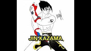 HOW TO DRAW JIN KAZAMA FROM TEKKEN