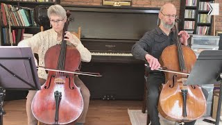 TSO Cello Marie Gélinas plays this exquisite song by J. S. Bach with her husband