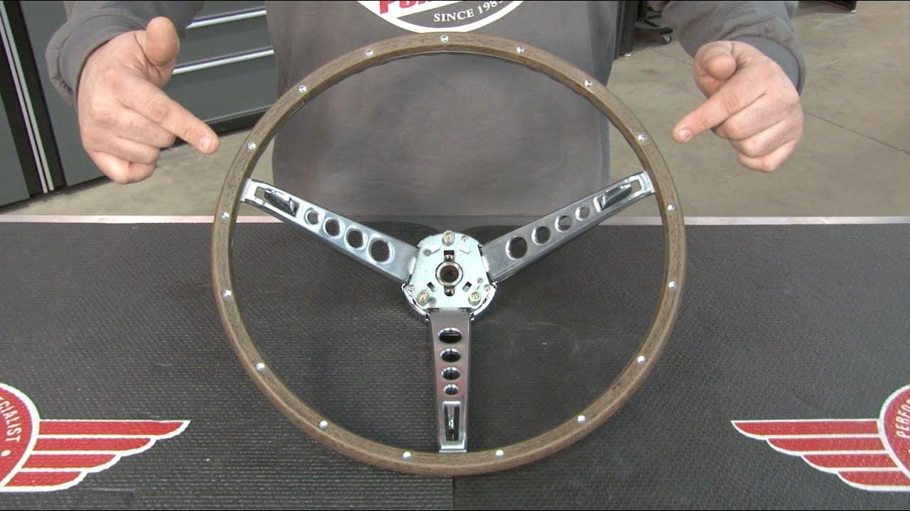 Mustang Woodgrain Steering Wheel Kit 1965 1966 Youtube