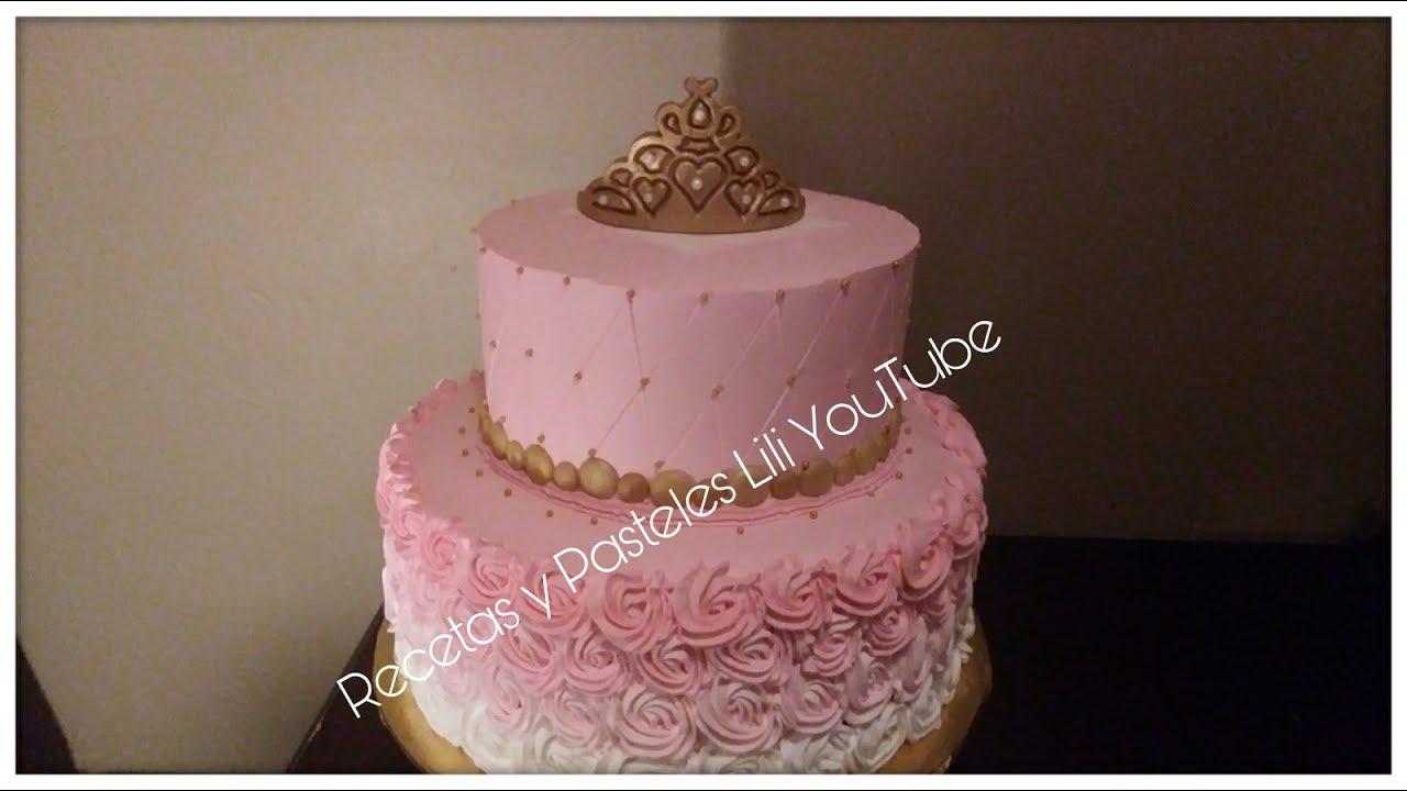 Corona Y Decoración Pastel De Princesa